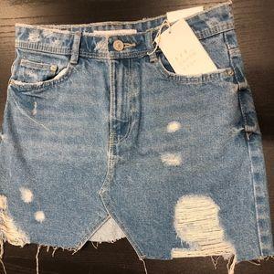 NWT ZARA Trafaluc Denim Skirt XS